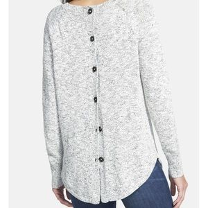 sweater with button detail down back